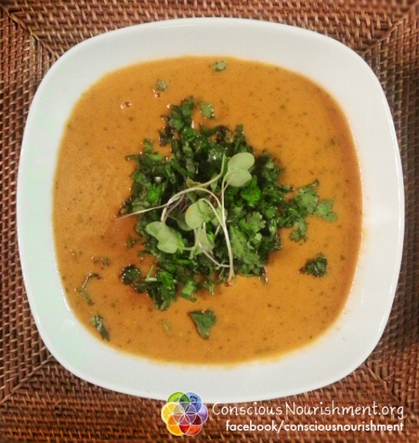 Dreamy Creamy Raw Veggie Soup