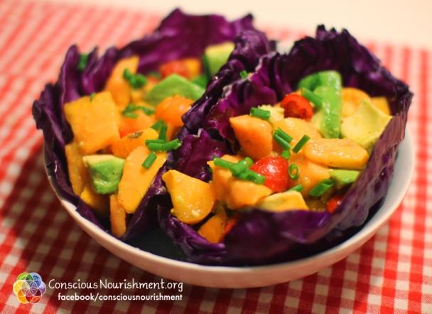 Papaya Salad Boat