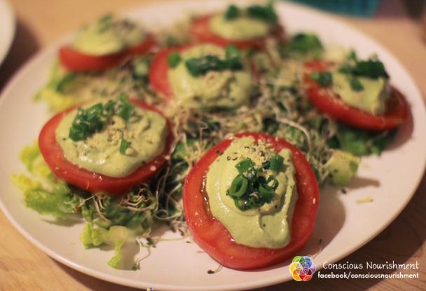 Raw Vegan Tomatoes and Cheese